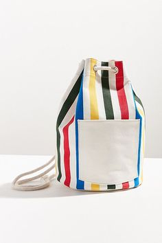 Striped Canvas Backpack | Urban Outfitters