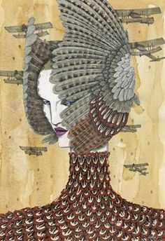 Richard Gray fashion illustrator // Alexander McQueen