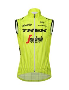 82ea35922 2018 Team Trek CYCLING Vest - in Yellow - Made it Italy by Santini