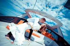 Wedding session on boat!