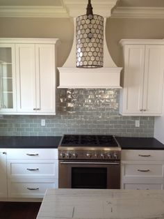 I Love The Backsplash But Not The Black On The Island! Absolute Black  Granite With A White Marble Island Please Post Pictures Of Your Counter Tops  ...