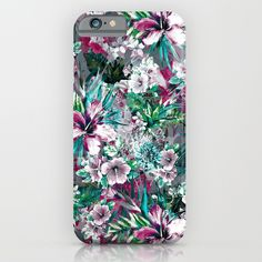 Check out society6curated.com for more! @society6 #floral #flowers #pattern #phone #case #phonecase #accessory #accessories #fashion #style #buy #shop #sale #cool #sweet #rad #awesome #fun #beautiful #beauty #pretty #botanical #iphone #products #product  #botanical #white #green #red #pink