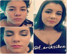 Antes e depois feito pelo Beauty Team da NYX do Shopping Granja Viana