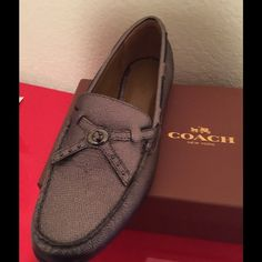 BNIB Coach Gunmetal Loafer 8.5 Brand new Coach Loafers size 8.5 Gunmetal in box Coach Shoes Flats & Loafers