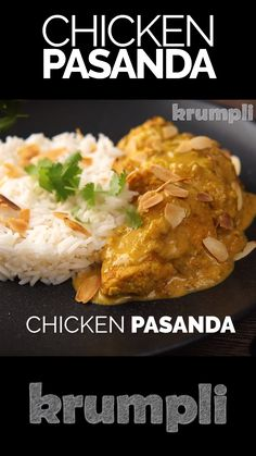 A chicken pasanda is a relatively mild 'Mughal' curry loaded with yoghurt and almond and has become one of my absolute favourites. food recipes videos chicken Indian Chicken Pasanda or Passanda Indian Chicken Recipes, Easy Chicken Recipes, Indian Food Recipes, Asian Recipes, Indian Chicken Curry, Indian Chicken Dishes, Indian Curry, Curry Recipes, Vegetarian Recipes