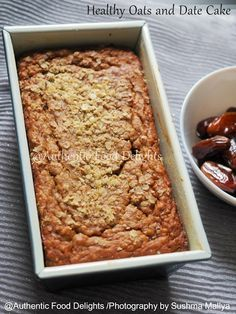 Authentic Food Delights: Healthy Oats and Date Cake Date Recipes Baking, Date Fruit Recipes, Date Recipes Healthy, Oats Recipes, Snack Recipes, Recipies, Snacks, Healthy Fruit Cake, Yummy Recipes