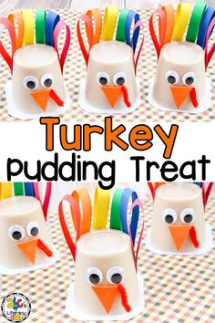 Are you looking for a fun snacktivity for your kids to do for Thanksgiving? These Turkey Pudding Cup Treats are a simple craft and snack all rolled into one. These turkey snacks are so easy to make that your children can easily help. Or, you have have these sweet treats ready for your kids on the Thanksgiving day. Click on the picture to learn how to make these Turkey craft snacks! #turkeypuddingcup #turkeytreat #turkeycraft #thanksgivingcraft #thanksgivingtreat #thanksgivingpuddingcup