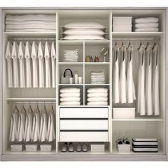 New Ideas For Bedroom Storage Closet Organisation Dressing Rooms Wardrobe Design Bedroom, Master Bedroom Closet, Wardrobe Storage, Bedroom Wardrobe, Wardrobe Closet, Closet Storage, Bedroom Storage, Closet Organization, Wardrobe Organisation