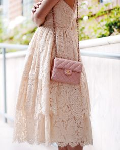 Lace & Chanel, Lace Dress, Burberry Cropped Trench, Chanel Mini Bag, Chanel…