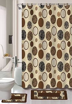 Bathroom Window And Matching Shower Curtains complete 6 pc set leaping dolphin bathroom with shower curtain