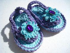 Crochet PDF pattern baby flip flop sandal beach sandal. $4.95, via Etsy.