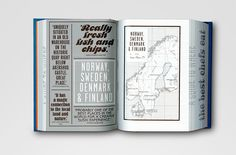 Where Chefs Eat: A Guide to Chefs Favourite Restaurants book design and custom typography by Kobi Benezri Page Layout Design, Book Design, Design Art, Graphic Design Print, Graphic Design Inspiration, Cartography, Editorial Design, Branding Design, Give It To Me