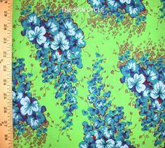 Fabric 1 Yard Kaffe Fassett Arbour LC05 Green Flower Lime Westminster Quilting | eBay