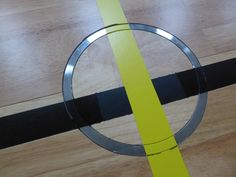 A detail of the ring for the volleyball poles