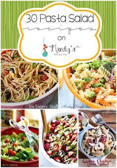30 Pasta Salad Recipes by sheri Paula Deen, Quinoa, Potluck Dinner, Cooking Recipes, Healthy Recipes, Oven Recipes, Yummy Recipes, Bacon Pasta, Butter Pie