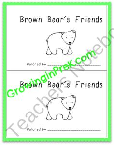 Brown Bear's Friends product from Growing-in-Pre-K on TeachersNotebook.com