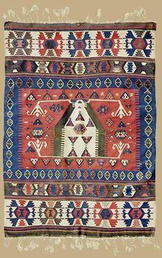 Karakeçili Prayer Kilim  Dimension:  1.55 x 1.08 m    Date:  2. half 19. Century    West-Centralanatolia I Ex Oriente: Anatolia