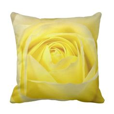 Yellow Rose Throw Pillow ($56) ❤ liked on Polyvore featuring home, home decor, throw pillows, yellow home decor, rose throw pillow, yellow toss pillows, yellow home accessories and quote throw pillows