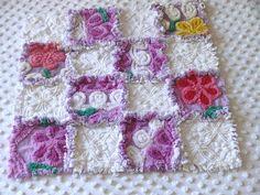 ~Purple~ Vintage Chenille Patchwork Rag Quilt by Nesha's Vintage Niche, via Flickr