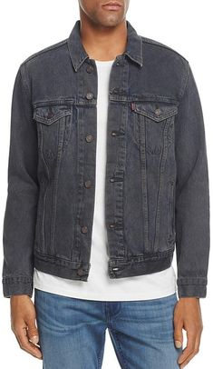 95562f80416 Another classic with this Levi s Denim Trucker Jacket. I simply love this  dark gray color