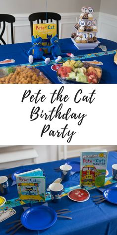 All about our little guys Pete the Cat themed birthday party for his second birthday! What we did, how we decorated, what we ate, etc. #parties #toddlers #momlife #motherhood // Pete the cat decor // educational party ideas