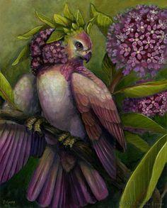 Swamp Milkweed Nectarbird by Brenda Lyons - Brenda Lyons Illustration Purple Haze, Shades Of Purple, Green And Purple, Olive Green, Plum Purple, Purple Flowers, Magenta, Burgundy, Illustrations