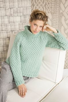 Ravelry: #07 Double Seed Stitch Pullover pattern by Margeau Soboti