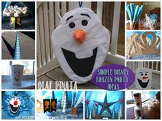 Disney Frozen Party Ideas - Rebecca Autry Creations Frozen Birthday Theme, Frozen Theme Party, 4th Birthday Parties, Olaf Party, Frozen Themed Birthday Party, Disney Frozen Party, Diy Birthday, Themed Parties, Birthday Ideas