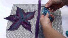 Contemporary felt artisan Wendy Bailye shows you how to make a beautiful felt flower in a few easy steps. For this project you will need: Wool tops in severa...