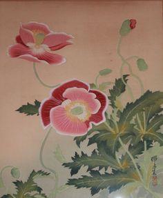 IKEDA Zuigetsu/Zeigetsu (池田瑞月 Japanese, 1877-1944) Woodblok Antique Poppies ポピー