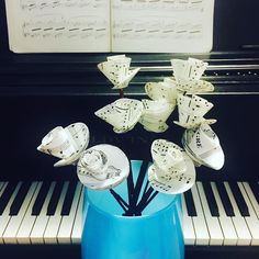 Latest @etsy find! Love my sheet music flowers! #sheetmusic #music #piano #flowers #musician #pianist #artsy #love by becky.m7