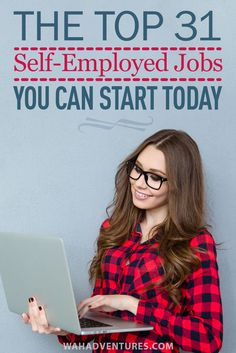 Leave the 9 to 5 and get started working from home with a self-employed job. These 43 ideas can get you started using your skills as your own boss, making more money than you could have ever dreamed of from a traditional job. Own Business Ideas, Start A Business From Home, Home Based Business, Starting A Business, Online Business, Self Employed Jobs, Self Employment, Employment Opportunities, Earn Money From Home