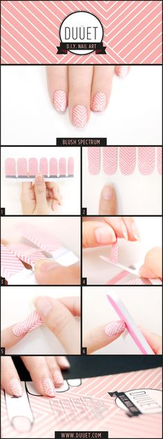 How to use DUUET nail stickers