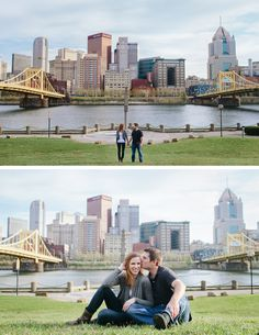Pittsburgh Pennsylvania Engagement Session via Full Bloom Photography