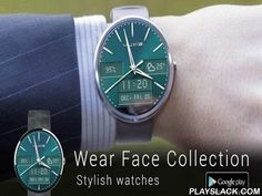 Wear Face Collection  Android App - playslack.com ,  /!\ THIS APP IS NOT COMPATIBLE WITH THE FIRST SAMSUNG GEAR, AND GEAR 2 /!\A new collection of watch faces for Android Wear !Design, classic, casual, the collection has 90 themes.Features :★ 90 watch themes★ weather forecast★ battery life★ dual timezone★ date★ 12 and 24 hour format★ and many more ...This app is fully compatible with the following watches :- Samsung Galaxy Gear Live- LG G Watch- Motorola Moto 360- LG R watch- Asus Zen-watch…