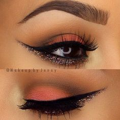 """HALLOWEEN EYES!  """"She who leaves a trail of glitter is never forgotten"""". Plus a little glitter in your eye look never hurt anyone. Try OCC Glitter from crcmakeup.com"""
