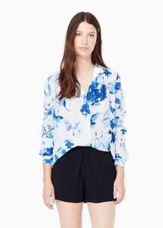 Bluse mit v-ausschnitt | MANGO