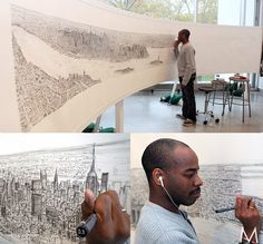 After only a 20 minute helicopter ride over New York City, autistic artist, Stephen Wiltshire was able to draw the New York skyline, in pen, just from memory.
