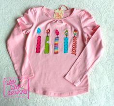 Weiteres - 5! Geburtstags-Shirt 'Candles' - ein Designerstück von hip-hip-hurra bei DaWanda