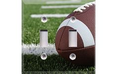 Football Field Double Light Switch Plate Cover by Crazy8Zdecor, $7.99