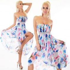 Királykék rózsaszín köves aszimmetrikus alkalmi ruha - Női ruha webáruház c7f6c5d75f