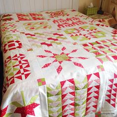 A Quilting Life - a quilt blog: Some Favorite Christmas Quilts: Fig Tree Red and Green Quilt