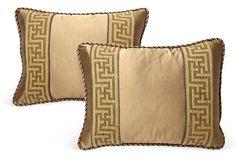 Greek-Key Pillows, Pair on OneKingsLane.com