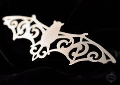 Halloween Womens Ornate Bat statement necklace in by FableAndFury, $32.00