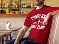 Camisa de camping los campistas van a campamento  camiseta