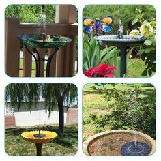 Amazon.com : Ankway Solar Bird bath Fountain Pump for Garden and Patio, Free Standing 1.4W Solar Panel Kit Water Pump, Outdoor Watering Submersible Pump (Birdbath & Stand Not Included) : Patio, Lawn & Garden