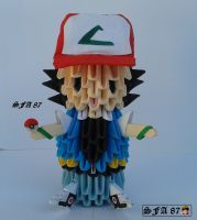 Ash Ketchum Pokemon Origami 3d by Sfa87