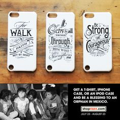 New iPod Touch 5th Generation, iPhone 4/4s, and iPhone 5 cases available now. $5.00 of your purchase will be donated to The Body Ministries. Visit www.shoprisen.com for more details.