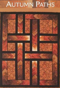 "Autumn Paths ( Braid Quilt) Pattern by Ilene Bartos Finished size 74 1/2"" x 94 1/2"""