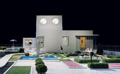"Fantastic replica of Tati's Villa Arpel from ""Mon Oncle"" as exhibited by the Centquatre Gallery in Paris in 2009."